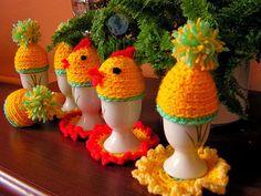 Dekoracje wielkanocne- czapeczki na jaja | Szysia