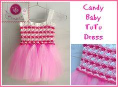 Crochet Candy baby tutu dress - Maz Kwok's Designs