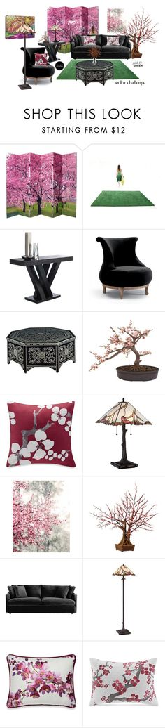 """Pink and Green 8"" by jesking ❤ liked on Polyvore featuring interior, interiors, interior design, home, home decor, interior decorating, nanimarquina, Sunpan, Fratelli Boffi and Nearly Natural"