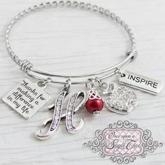 Personalized Bracelet Customized Hand Stamped Name Charm Winnie the Pooh bear Charm Bangle Gold Silver Disney Personalized Gift Your Own Saying Expandable Stainless Steel Jewelry