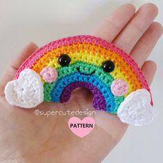 Rainbow PDF Pattern, crochet, amigurumi