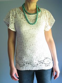 DIY lace top. For when I learn to use my sewing machine.