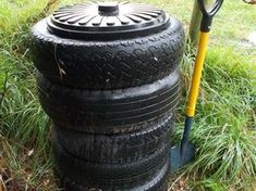 Car tyre compost bin – How to make one More