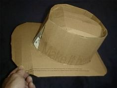 How to Make Your Own Cardboard Cowboy Hat thumbnail diy cardboard cowboy hat