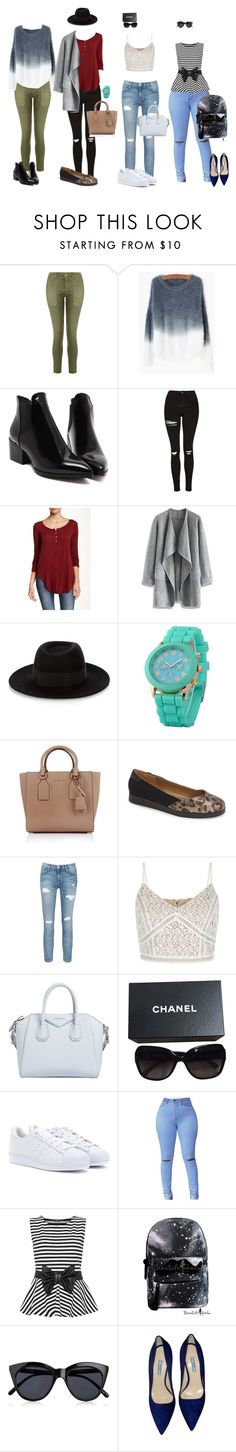 """Spring LookBook"" by amloyal on Polyvore featuring Current/Elliott, Topshop, Leibl '38, Chicwish, Maison Michel, Zodaca, Michael Kors, Me Too, Givenchy and Chanel"