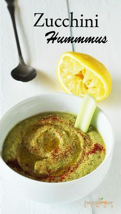 Delicious zucchini hummus, who would think a bean free hummus would taste so delicious. Perfect for those on a gluten-free, vegan, phase 1 candida diet. You don't even miss the chickpeas.