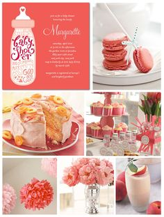 Coral Baby Shower Inspiration Board