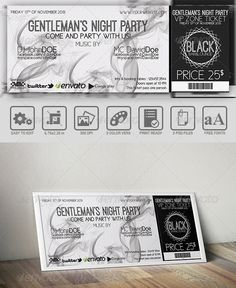 Black And White Event Ticket  #GraphicRiver         Black And White Event Ticket  	 • Fully Editable Files (fully layered files) • 5.5×2 (5.75×2.25 with bleeds + trim mark) • 300 DPI • Horizontal Template • CMYK Colors • Print Ready Files  	 Free Fonts  	 Cicle :  .fontsquirrel /fonts/Cicle?q%5Bterm%5D=Cicle&q%5Bsearch_check%5D=Y Ostrich  .fontsquirrel /fonts/ostrich-sans-inline?q%5Bterm%5D=Ostrich+&q%5Bsearch_check%5D=Y  	 Code Generator:  .barcodesinc /generator/index.php     Created…
