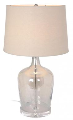 One Light Metallic Champagne Glass.  metal Parts:satin Nickel Table Lamp