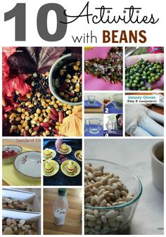 10 Awesome Activities with Beans covering math, science, sensory, and art!