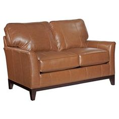 Exceptional Perspectives Leather Loveseat Broyhill W: D: H: Nice Look