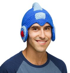 This Mega Man Crochet Hat has Rock's style paired with the warm fuzziness of a winter hat.