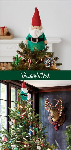 Every Christmas tree needs a topper, so why not top your tree with a friendly character from The Land of Nod? From Gnomes, to reindeer to a felt snowman Land of Nod has your tree top covered.