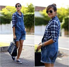 Zara Tshirt, H&M Overalls, Keds Sneakers