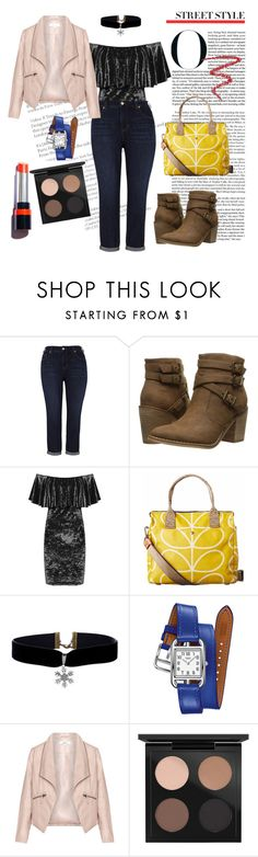 """Fashion 101: Off Shoulder for Curvy"" by josehline on Polyvore featuring Melissa McCarthy Seven7, Rocket Dog, WearAll, Orla Kiely, Hermès, Zizzi, MAC Cosmetics, By Terry and plus size clothing"