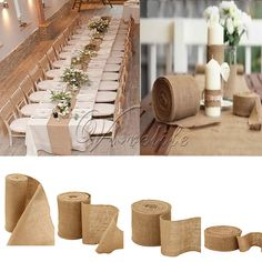 Cheap wedding party, Buy Quality table runner wedding directly from China hessian burlap Suppliers: 10Meter Natural Jute Hessian Burlap Ribbon Roll Burlap Table Runners Wedding Party Chair Bands Vintage Home Decor 4 Size