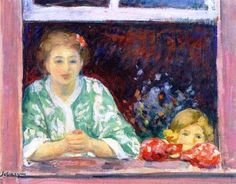 Henri Lebasque - Woman and Little Girl at the Window