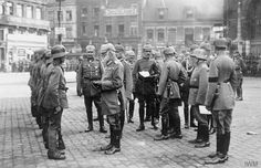 King Ludwig III of Bavaria personally presenting Bavarian Service Crosses with ribbons to soldiers during his visit to the Western Front, May 1918.