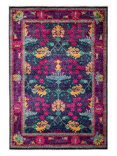 Art Deco Hand-Knotted Rug