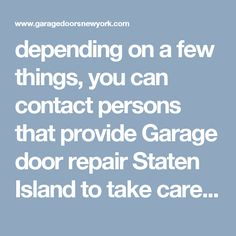 We Are Leading Garage Repair Agency Based In New York. Hire Us For Your Garage  Door Services In Long Island, Queens, Staten Island, New York.