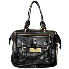 """The Face Bag Black Bubble Leather -- Available in 3 colors!  Created in celebration of Liebeskind Berlin's partnership with season two of Oxygen's fashion competition series, """"The Face,"""" it is the perfect style addition to your wardrobe."""