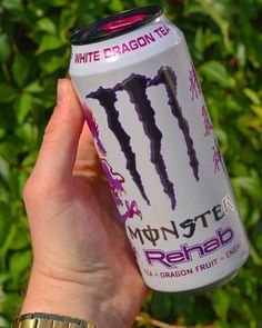 Monster Energy Drinks, Aesthetic Indie, White Aesthetic, Strawberry Detox Water, Kawai Japan, Sleepover Food, Dragon Tea, Love Monster, Love Energy