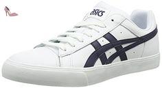 Asics NS-Court, Sneakers Basses Mixte Adulte - Blanc (White/Navy 0150), 39 1/2 EU (5.5 UK)