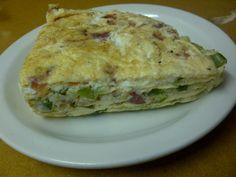 Vegetable omelette cake