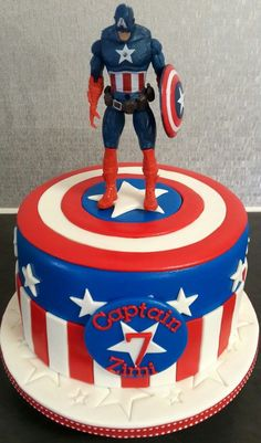 Inspiration Picture of Captain America Birthday Cake . Captain America Birthday Cake America Birthday Cakes Inspiration Picture of Captain America Birthday Cake . Avengers Birthday Cakes, Superhero Birthday Cake, Themed Birthday Cakes, Boy Birthday, 4th Birthday Cakes For Boys, Birthday Ideas, Captain America Cupcakes, Captain America Birthday Cake, Captain America Party