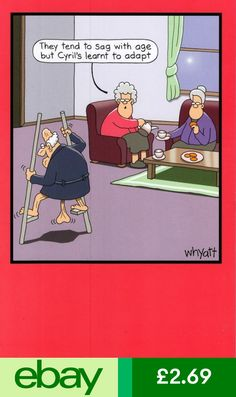 Traces of Nuts Greeting Cards Furniture & DIY Funny Cartoon Pictures, Cartoon Jokes, Funny Cartoons, Funny Comics, Funny Images, Funny Jokes, Hilarious, Old People Cartoon, Funny People