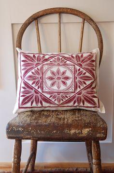 block printed pillow - Katharine Watson