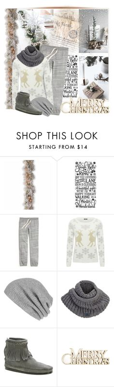 """""""Christmas at home"""" by cool-cute ❤ liked on Polyvore featuring National Tree Company, Stelton, Sudio, J.Crew, M&Co, White + Warren, adidas, Minnetonka, Christmas and relax"""