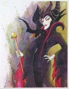 """Evil Scepter"" by Michelle St. Laurent - Original Watercolor on Paper, 30x23."