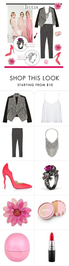 """Pink"" by worldoffashionr ❤ liked on Polyvore featuring Alice + Olivia, Zara, ABS by Allen Schwartz, Christian Louboutin, jane, River Island, MAC Cosmetics, women's clothing, women's fashion and women"