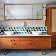 retro inspired bathroom - Davey Lighting Pillar lights from retro inspired bathroom - Davey Lighting Pillar lights from Ideal mounting a bathroom wall cabinet just on home design ideas site Bathroom Remodel Planning Guide 2019 1930s Bathroom, Loft Bathroom, Bathroom Inspo, Pillar Lights, Wall Lights, Davey Lighting, Btc Lighting, Bathroom Wall Cabinets, Art Deco