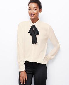 Versatile Tie Blouse   Ann Taylor