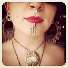 My daughter Sarah sporting her beautiful new septum ring from Scylla Jewelry <3