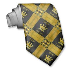 Best Daddy Golden Crown Neck Ties by elenaind