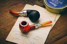 Smokingpipes.com — A batch of 12 Peterson Amber Spigots are joined by...