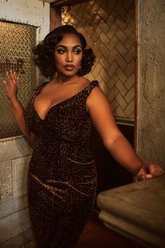The Laura Byrnes Gilda Dress in Leopard Velvet
