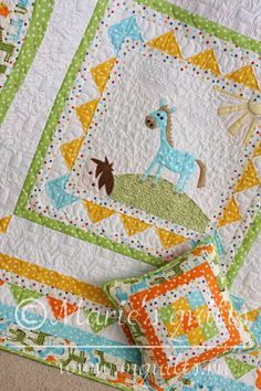 "Baby quilt ""Little horse"". Details. Made by Marie's quilts."