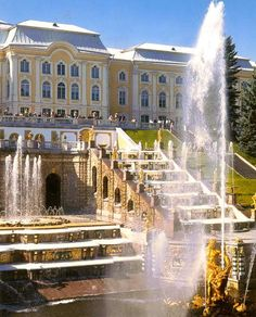 Peterhof Palace - Grand Cascade, St. Petersburg, Russia