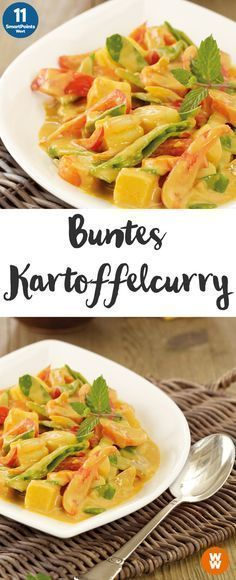 Buntes Kartoffelcurry Buntes Kartoffelcurry & 2 Portionen, 11 SmartPoints/Portion, Weight Watchers, Kartoffeln, fertig in 45 min. The post Buntes Kartoffelcurry appeared first on sandramarion. Curry Recipes, Veggie Recipes, Vegetarian Recipes, Healthy Recipes, Potato Recipes, Chicken Recipes, Dinner Recipes, Vegan Potato Curry, Curry Bread