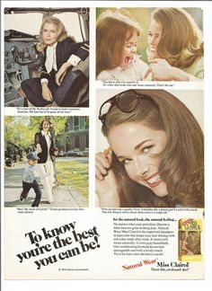 1975 Miss Clairol Advertisement Natural Wear 70s by fromjanet