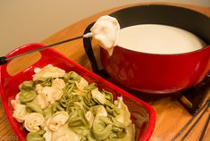 Tortellini Dippers with 4-Cheese Fondue