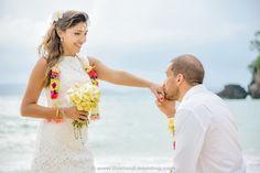 Railay Beach Wedding Railay Beach, Thailand Wedding, Destination Wedding, Flower Girl Dresses, Wedding Dresses, Fashion, Bride Dresses, Moda, Bridal Gowns