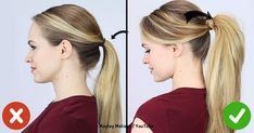 The best way to put your hair in a ponytail