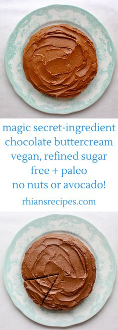 This Magic Secret-Ingredient Chocolate Buttercream is vegan, gluten-free, paleo-friendly and refined sugar free. It's perfectly sweet, luxuriously rich and creamy, and unbelievably healthy! Easy to make and requires just 6 simple ingredients!