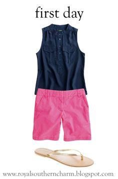 first day look : shorts