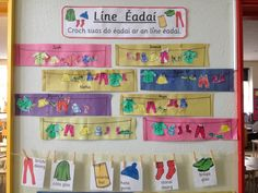 Junior Infants are learning Irish. Last month we learned how to talk about our clothes or our Eadaí. We know sciorta, geansai, stocai, bro...